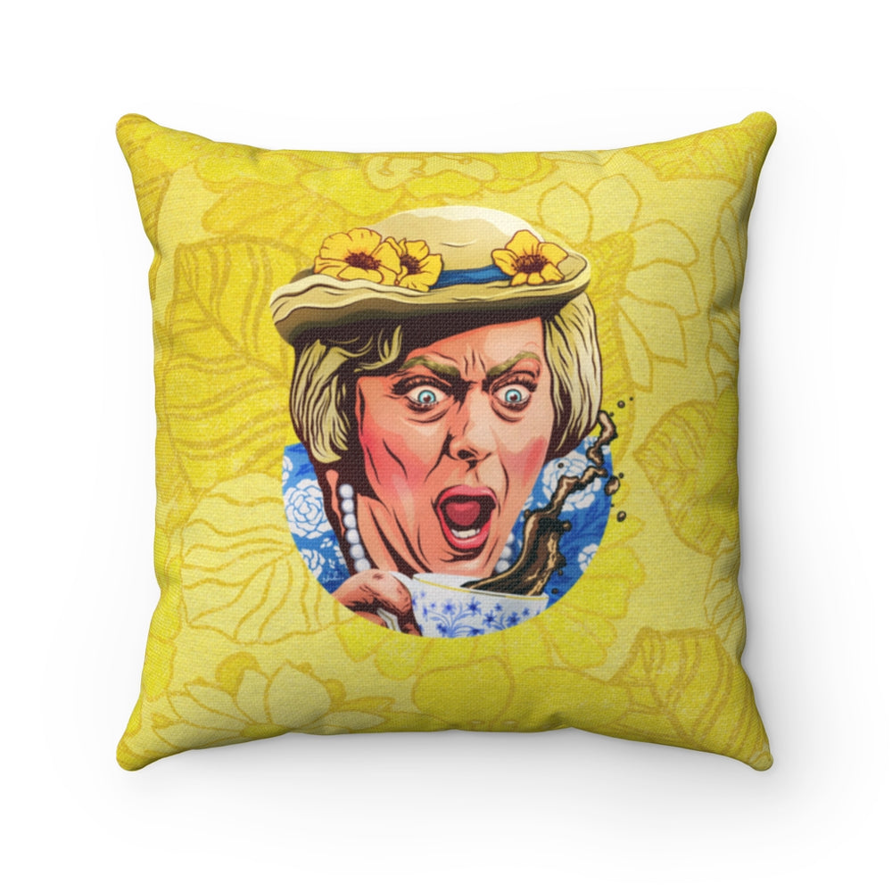 Coffee, Elizabeth? - Spun Polyester Square Pillow 16x16""