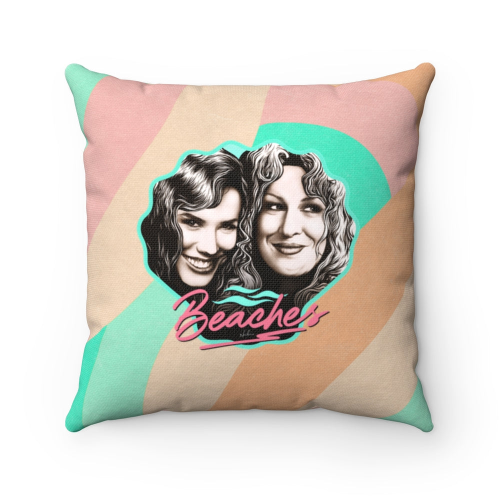 BEACHES - Spun Polyester Square Pillow 16x16""