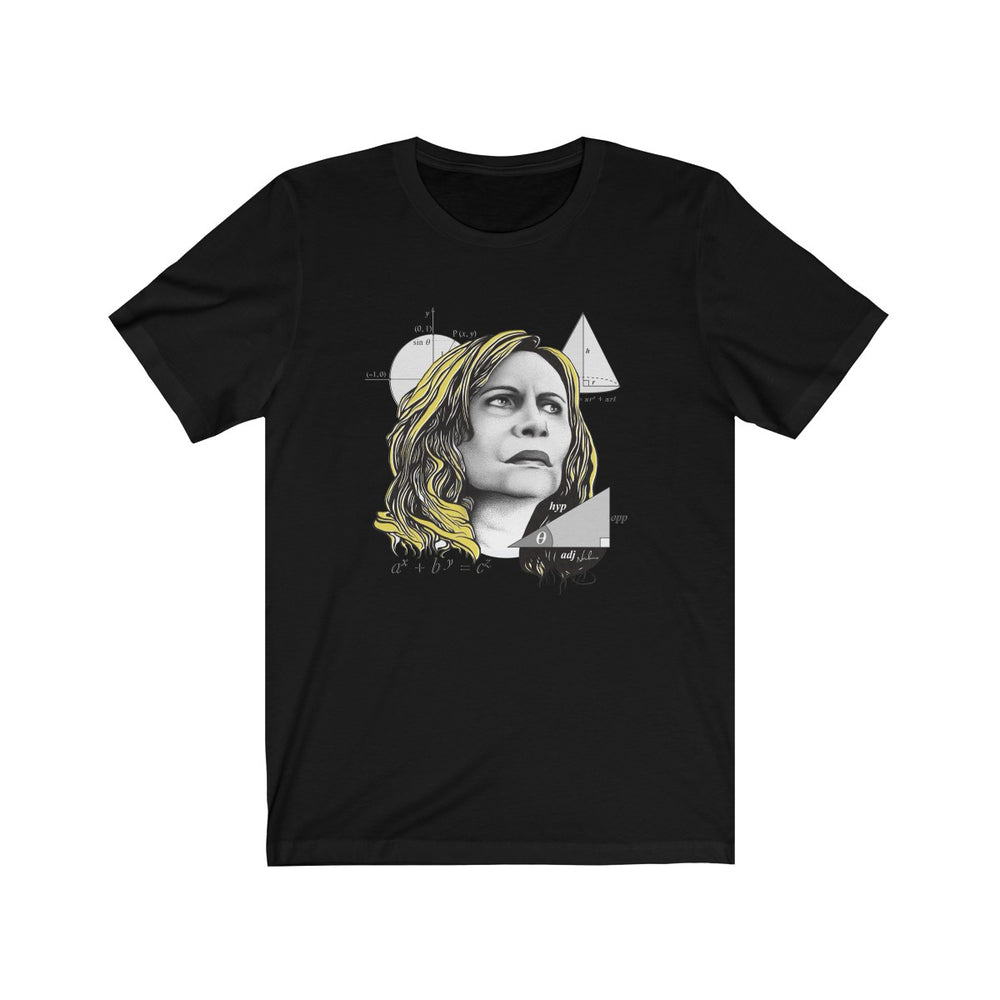 Nazaré Tedesco – Math Lady / Confused Blonde Meme - Unisex Jersey Short Sleeve Tee