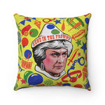 SEND IN THE FROWNS - Spun Polyester Square Pillow 16x16""