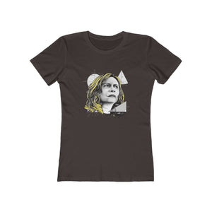 Nazaré Tedesco – Math Lady / Confused Blonde Meme -  Women's The Boyfriend Tee