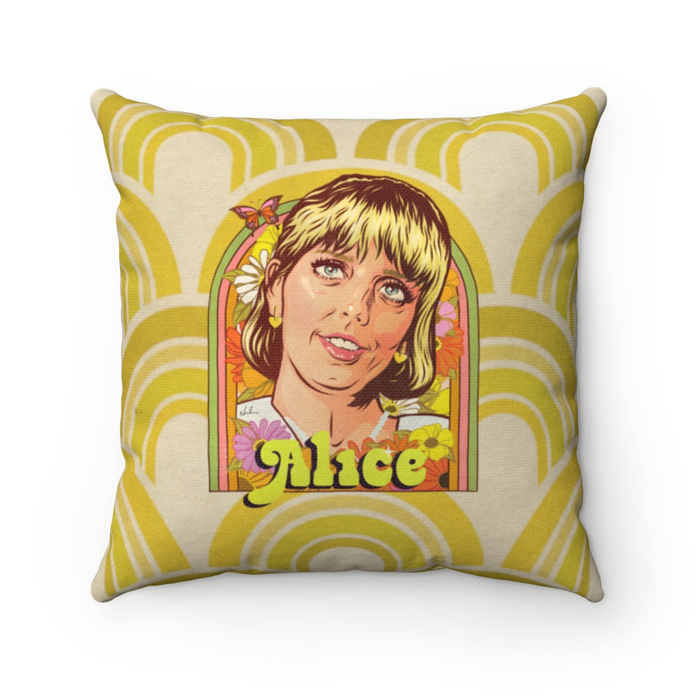 Alice - Spun Polyester Square Pillow 16x16""