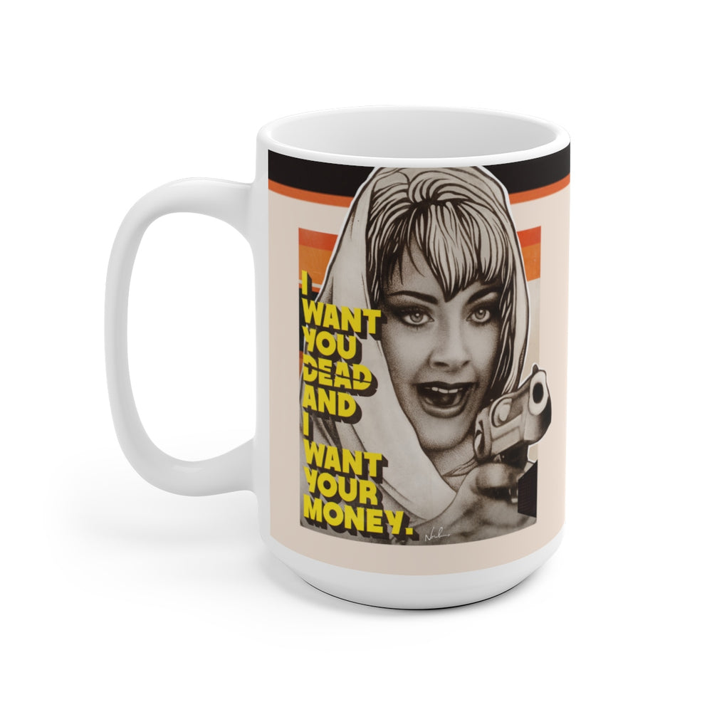 DEBBIE - White Ceramic Mug