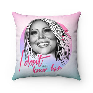 I Don't Know Her - Faux Suede Square Pillow 16x16""