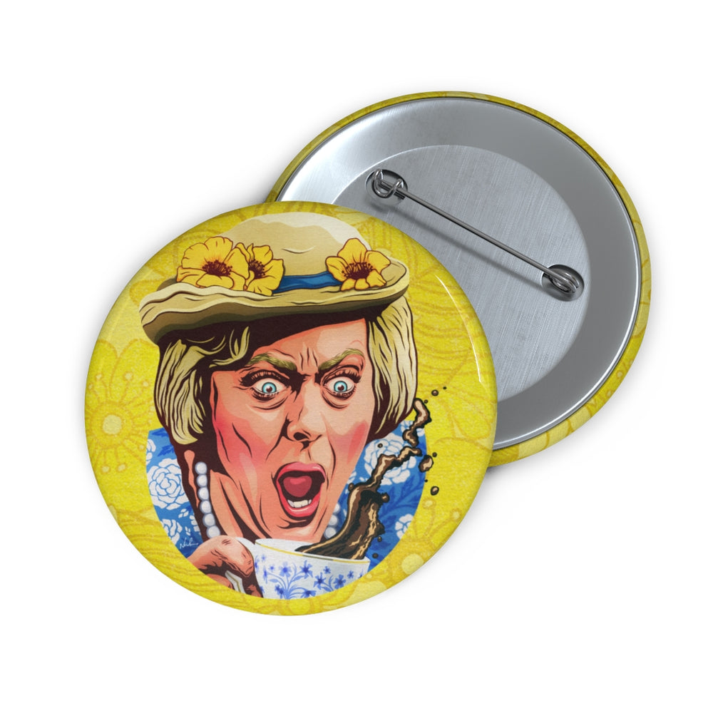 Coffee, Elizabeth? - Custom Pin Buttons
