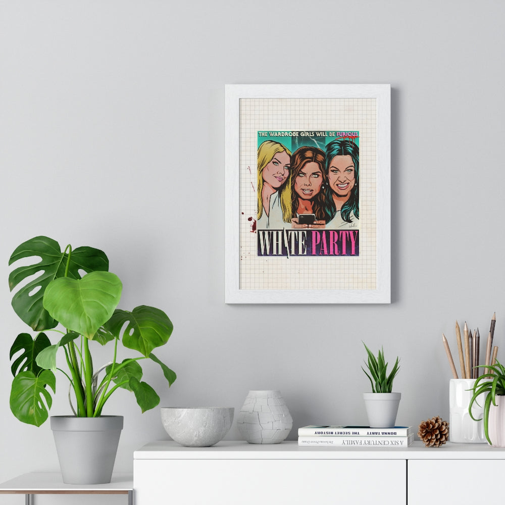 WHITE PARTY - Premium Framed Vertical Poster