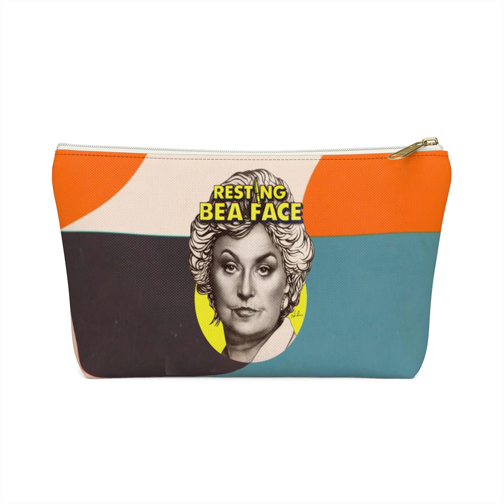RESTING BEA FACE - Accessory Pouch w T-bottom