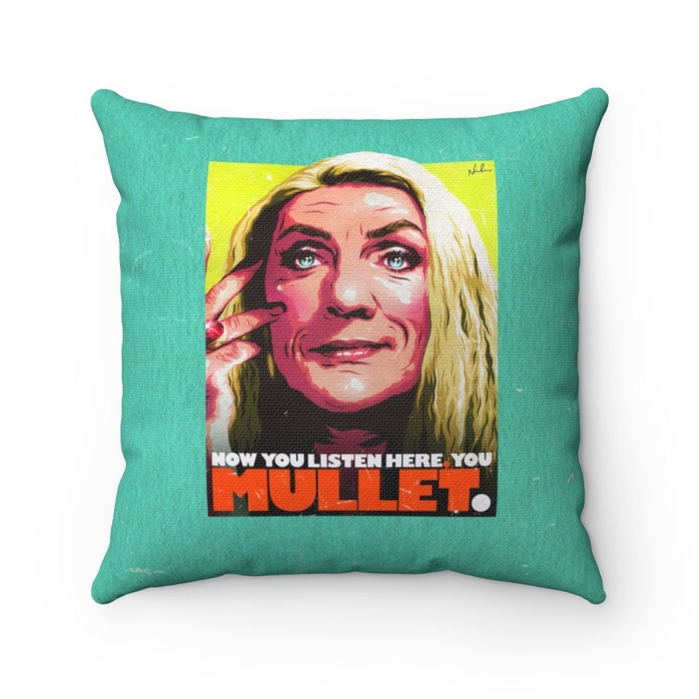 YOU MULLET - Spun Polyester Square Pillow 16x16""