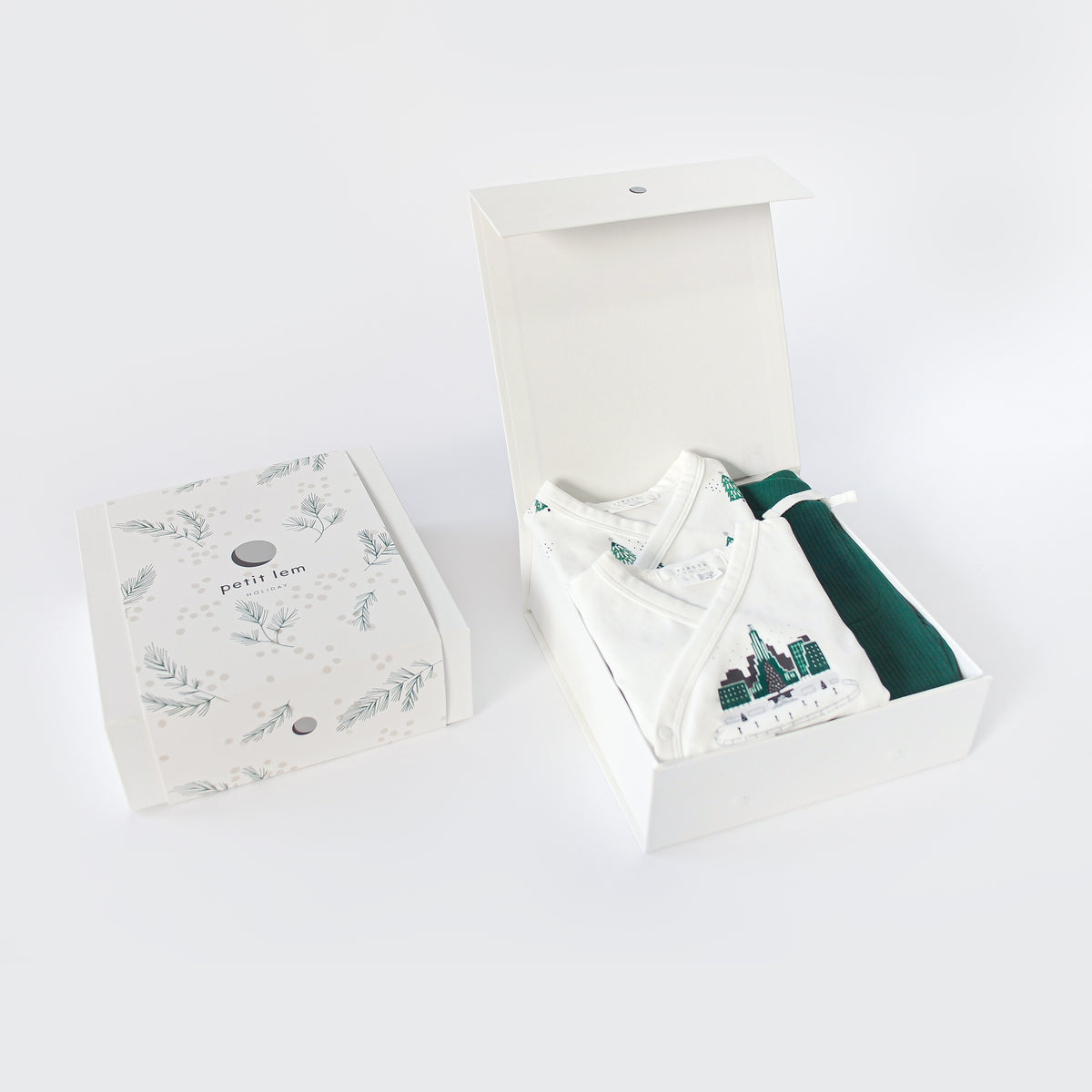 Ensemble cadeau FIRSTS de jour « Sapins festifs » (2Pcs)