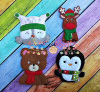 Christmas Animals Felt Finger Puppets