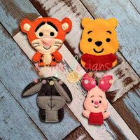 Honey Bear Felt Finger Puppets