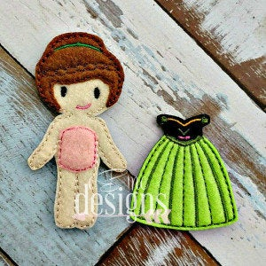 Annabelle Felt Non Paper Doll Outfit