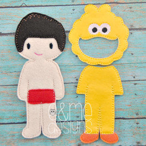 Yellow Bird Felt Non Paper Doll Outfit