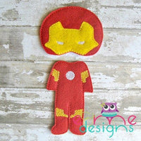 Iron Boy Felt Non Paper Doll Outfit