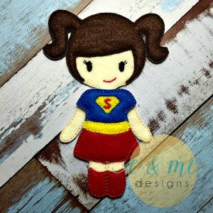 Super Girl Felt Non Paper Doll Outfit