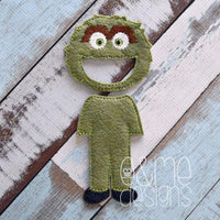 Grouchy Monster Felt Non Paper Doll Outfit