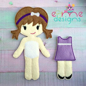 Clara Felt Non Paper Doll Outfit