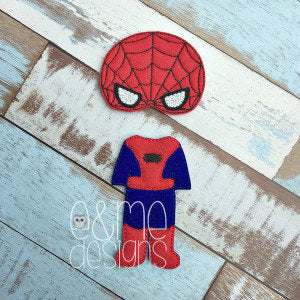 Spider Boy Felt Non Paper Doll Outfit