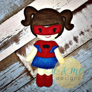 Spider Girl Felt Non Paper Doll Outfit