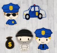 Cops and Robbers Felt Finger Puppets