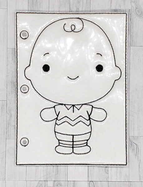 Boy Quiet Book Coloring Page