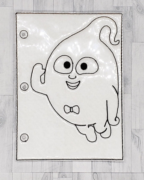 Ghost Quiet Book Coloring Page