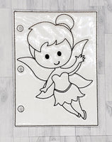 Fairy Quiet Book Coloring Page