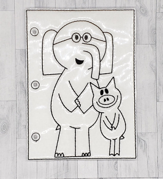 Elephant Quiet Book Coloring Page