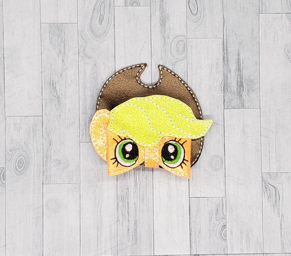 Apple Pony Hair Bow