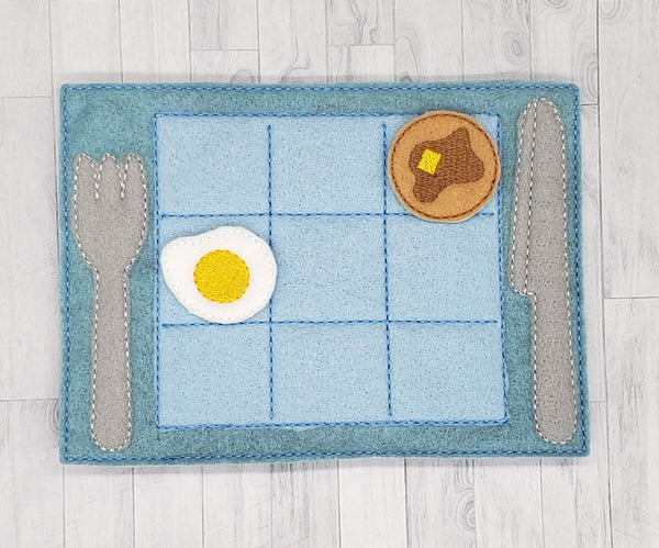 Breakfast felt tic tac toe set