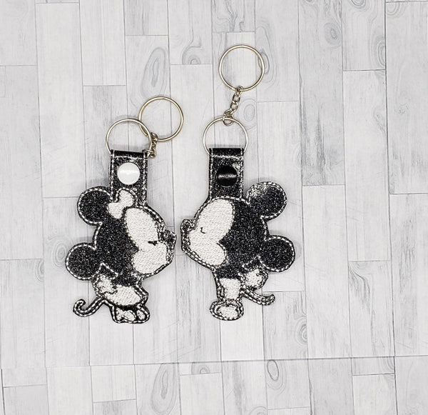 Mouse Couple Keychain