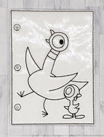 Duck Quiet Book Coloring Page