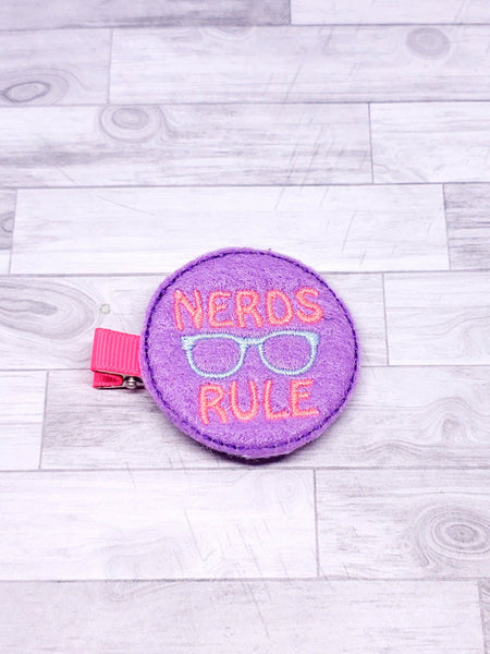 Nerds Rule Hair Clip