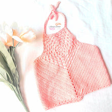 Load image into Gallery viewer, Coral  Crochet Crop Top