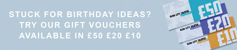 Stuck for birthday ideas? Try our gift vouchers. Available in £50, £20 and £10.