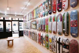 Interior of Slam City Skates West London