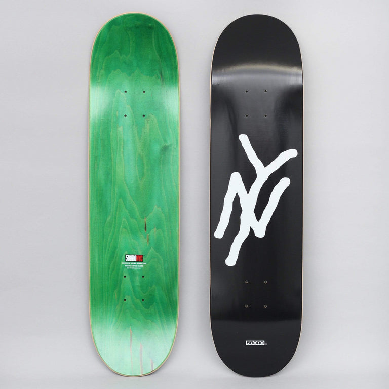 5Boro 8 NY Monogram Skateboard Deck Black