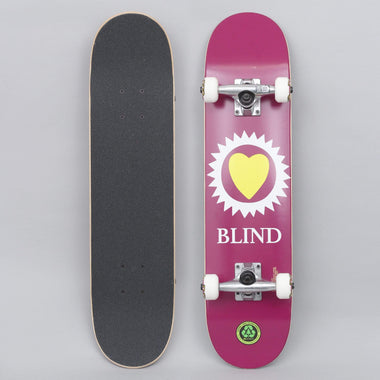 """Blind Reaper Ripper 7.0/"""" Yellow Youth Soft Wheel FP Skateboard Complete New!"""
