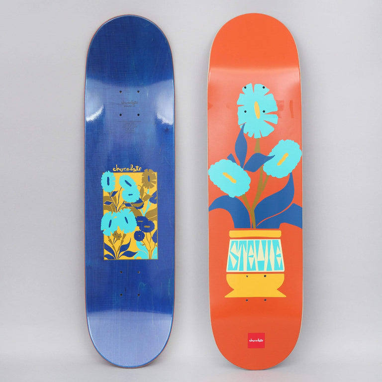 Chocolate 8.375 Stevie Perez Plantasia Skateboard Deck Orange