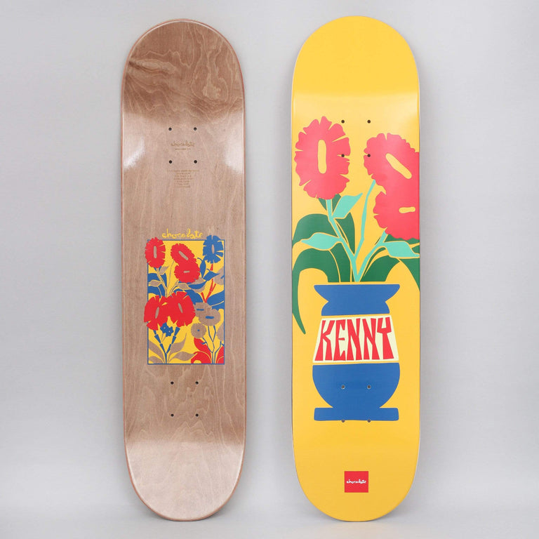 Chocolate 8 Kenny Anderson Plantasia Skateboard Deck Yellow