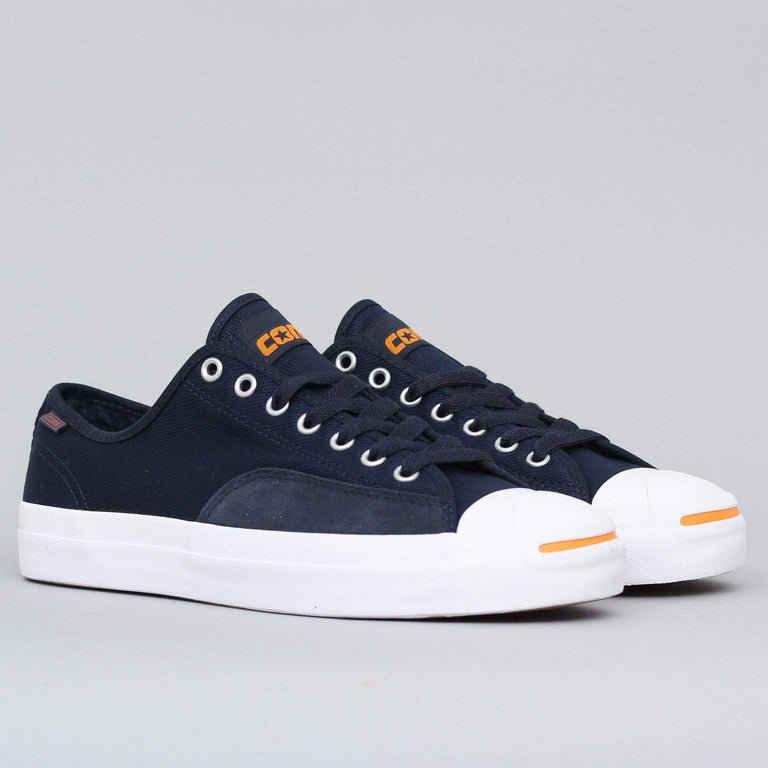Converse Jack Purcell Pro OX Shoes Dark Obsidian White