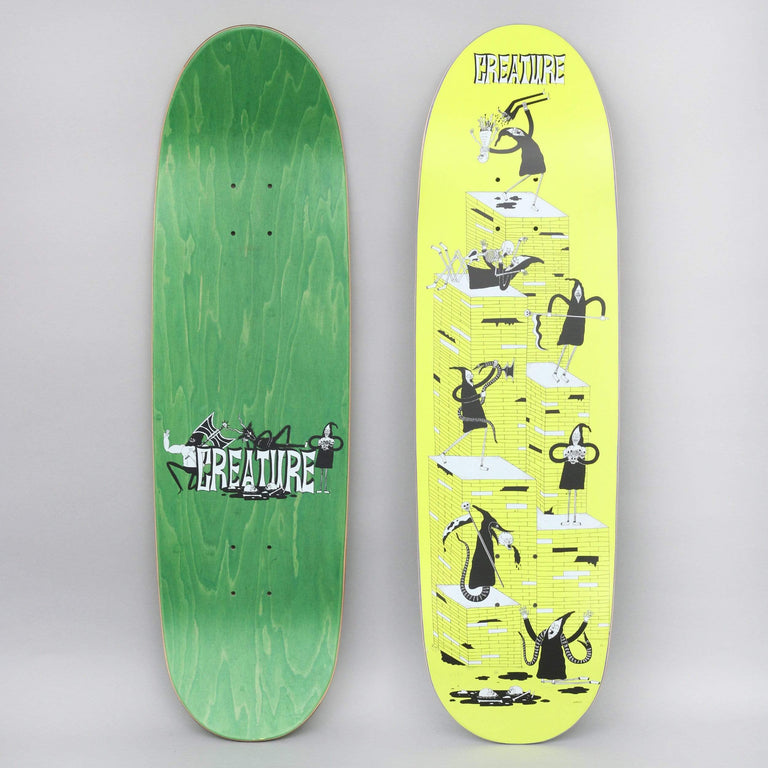 Creature 8.8 Free For All Powerply Skateboard Deck Yellow