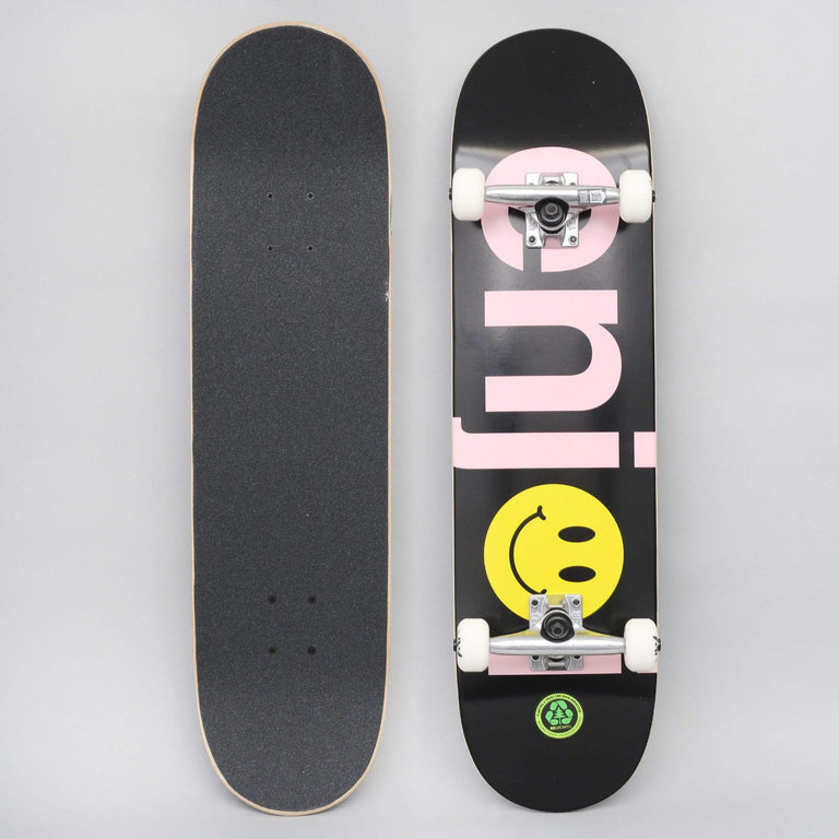 Enjoi 8.125 No Brainer Smiley FP Complete Skateboard Black / Pink
