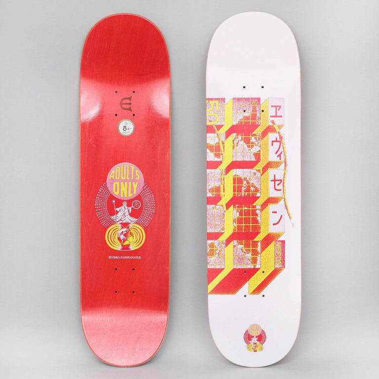 Evisen 8.5 World Hall Skateboard Deck Pink