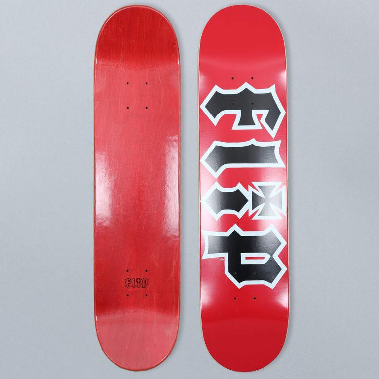 Flip 7.5 HKD Skateboard Deck Red / Black