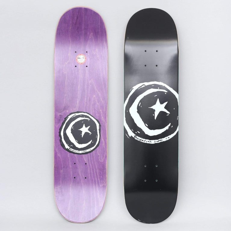 Foundation 8.375 Star And Moon Skateboard Deck Black