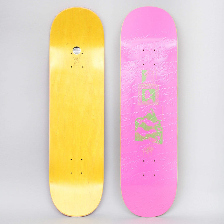 Fucking Awesome 8.5 Malcom Speaks Skateboard Deck Pink