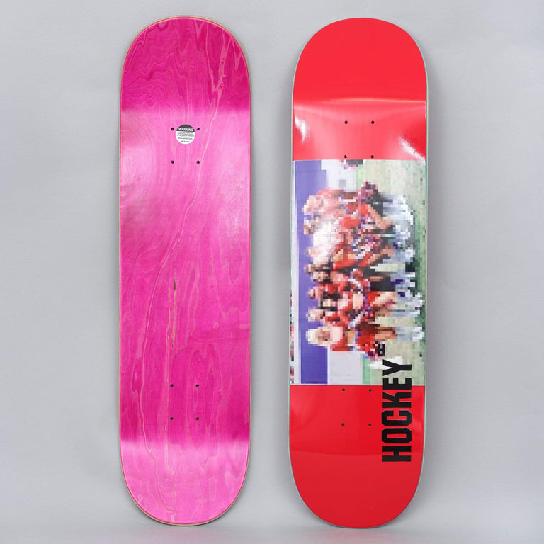 Hockey 8.38 Cheerleader Skateboard Deck Red