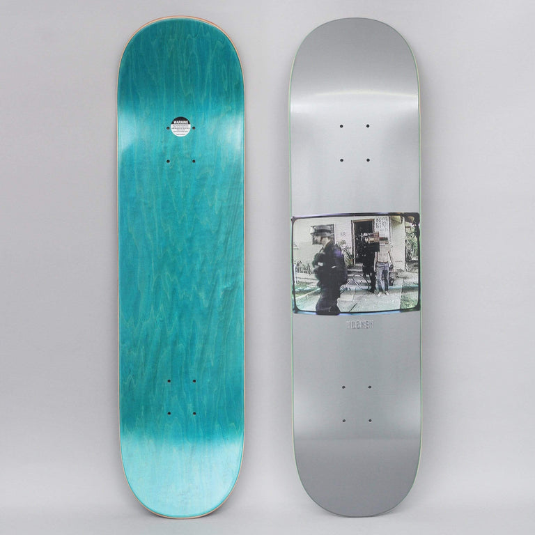 Hockey 8.5 Ricks Skateboard Deck Silver