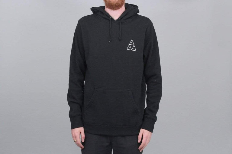 HUF Essential Triple Triangle Pullover Hood Black